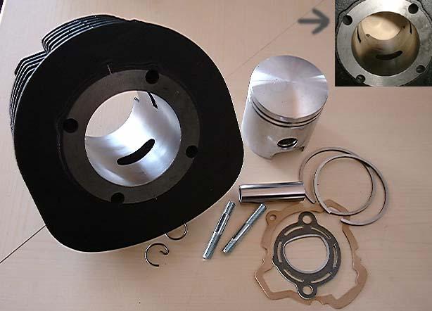 225ccm Tuning - Zylinder Polini 18KB Ape TM
