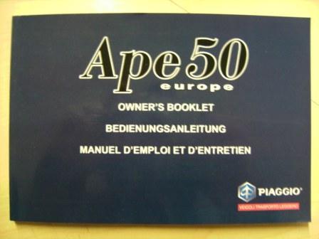 Bedienungsanleitung APE 50