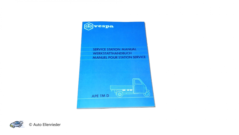 Werkstatthandbuch Ape TM Diesel Luftgekühlt