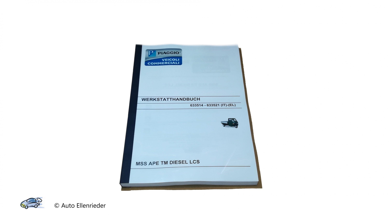 Werkstatthandbuch Ape TM Diesel Wassergekühlt